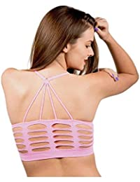 eba77fa71fabb ALBATROZ Celebrity Sexy Girl Bralette Back Triangle Style Cut Out Padded  Bra Bralet Crop Top Bralette Bra for Women…