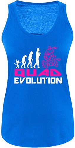 EZYshirt® Quad Evolution Damen Tanktop Royal/Weiss/Pink