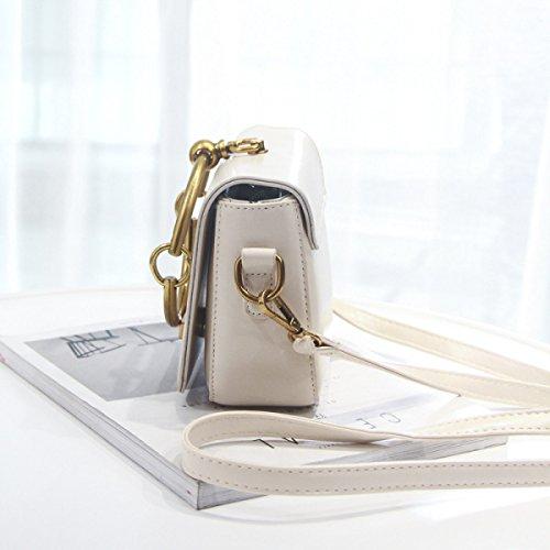 FZHLY Piccola Piazza Del Nuovo Modo Delle Signore Di Sacchetto Selvaggio Shoulder Bag Messenger,YellowBrown Gray