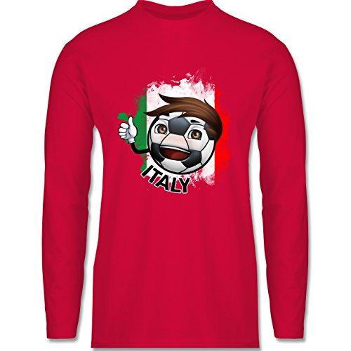 Shirtracer Fußball - Fußballjunge Italien - Herren Langarmshirt Rot