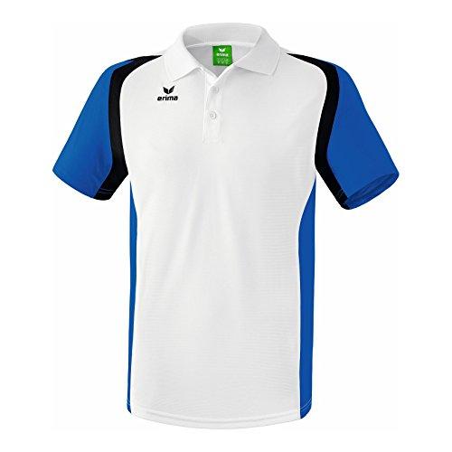 erima Herren Poloshirt Razor 2.0, Weiß/New Royal/Schwarz, M