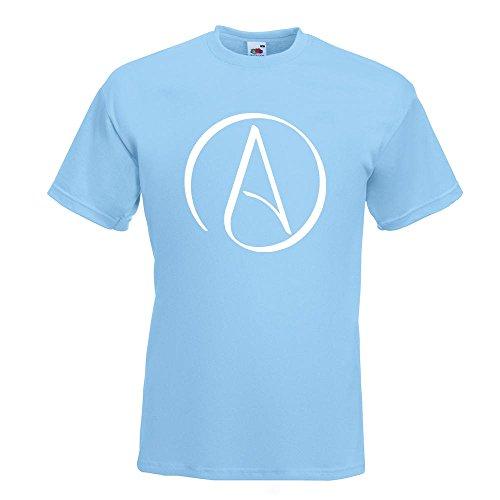 KIWISTAR - Atheismus - Atheist T-Shirt in 15 verschiedenen Farben - Herren Funshirt bedruckt Design Sprüche Spruch Motive Oberteil Baumwolle Print Größe S M L XL XXL Himmelblau