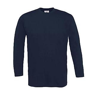 B&C - Langarm T-Shirt 'Exact 150 LS' S,Navy