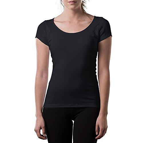 Thompson Tee - Damen Anti-Schweiß Kurzarm-Unterhemd mit anti-mikrobiellen Achselschweiß-Polstern - normale Passform - T-Shirt Schweiß Anti