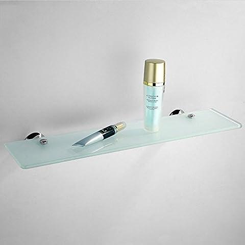 XIXI Extrem Feste Dusche Regal Badezimmer Hardware Anhänger Single - Layer Glas Regal Badezimmer Spiegel Dresser Spiegel Vor Dem Regal Sichern (Auswahl Innen Anhänger 1 Licht)