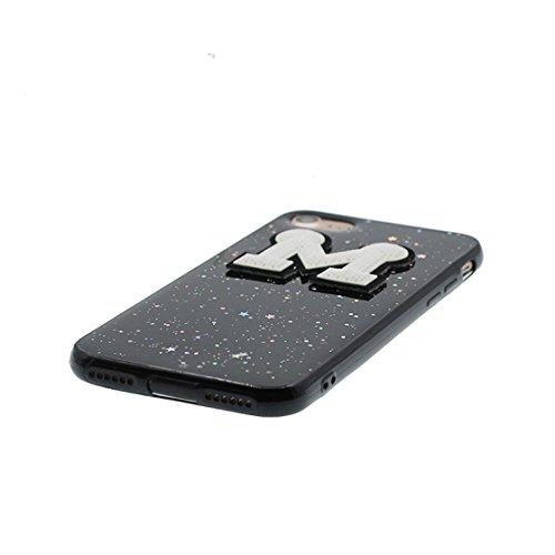 Cover iPhone 7 Custodia, iPhone 7 Copertura posteriore di TPU sveglio // protezione protettiva della pelle di Shell della copertura durevole di case // Cartoon gru uccelli case pour iPhone 7 Nero 3