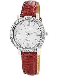 Excellanc Damen-Armbanduhr Analog Quarz verschiedene Materialien 195622000013