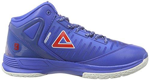 Peak Sport Europe Basketballschuh Tony Parker Tp9 Ii, Chaussures de Basketball Homme, Bleu Roi Bleu - Azul (Royal)
