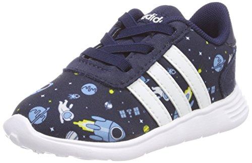 adidas Unisex Baby Lite Racer Sneaker, Blau (Ash Blue/Footwear White/EQT Yellow), 24 EU