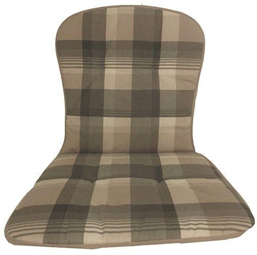 Gartenstuhl-Kissen/Auflage für stapelbare Gartenstühle aus Kunststoff, Modell mit Rückenlehne und...