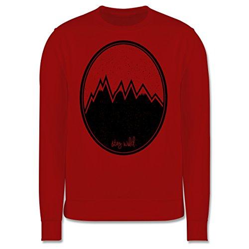 Wildnis - Stay wild. Berge - Herren Premium Pullover Rot