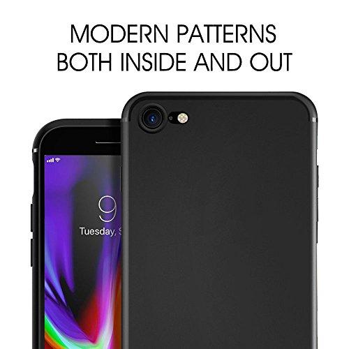 Coque iPhone 8, Coque iPhone 7, ikalula Silicone iPhone 8 Housse Flexible gel iPhone 8 / 7 Bumper cover Absorption de Choc Résistant aux rayures Très Légère Coque pour iPhone 8 / iPhone 7 - Jet Black Noir