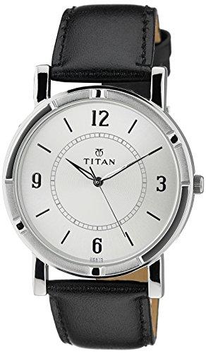 Titan Analog White/Silver Dial Men's Watch - 1639SL03