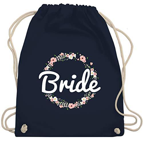 Frauen Kostüm Insgesamt - JGA Junggesellinnenabschied - Bride Blumenkranz - Unisize - Navy Blau - WM110 - Turnbeutel & Gym Bag