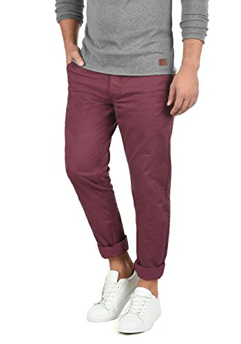 Blend Tromp Herren Chino Hose Stoffhose Aus 100% Baumwolle Regular Fit, Größe:W38/32, Farbe:Zinfandel (73006) -