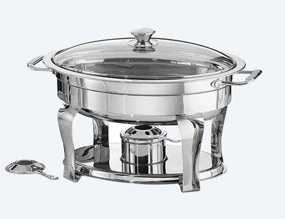 Tramontina 4.2Quart/3,9l oval Chafing Dish Premium Edelstahl 18/10 Quart Chafing Dish