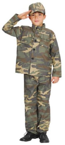 BOYS ARMY ACTION COMMANDO COSTUME FANCY DRESS AGES 3-10 YEARS ALL (Dress Commando Fancy)