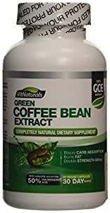 VitNaturals 800 mg Green Coffee Bean Extract - Pack of 60 Capsules