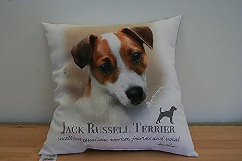 Jack Russel Terrier Coussin Opt2, avec le travail du célèbre Artiste Howard Robinson. exclusivement officiels par Howard Robinson.