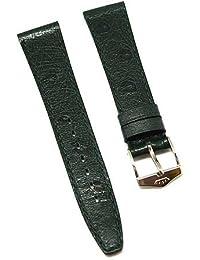 Reloj De Pulsera Fortis piel verde tono en 16mm Nuevo 8505