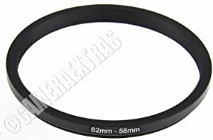62mm to 58mm Lens STEP DOWN Stepping Ring Filter Adapter Converter Canon Nikon