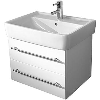 Emotion renova nr 1 65cm000101de waschbecken mit unterschrank holz wei hochglanz 65 x 43 x - Waschbecken von keramag ...