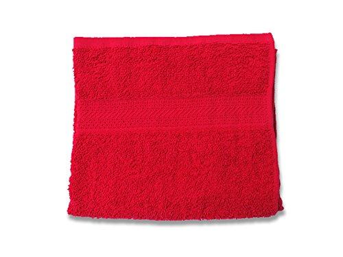 Soleil d'Ocre 431044 Serviette de Toilette Coton Rouge 50x90 cm
