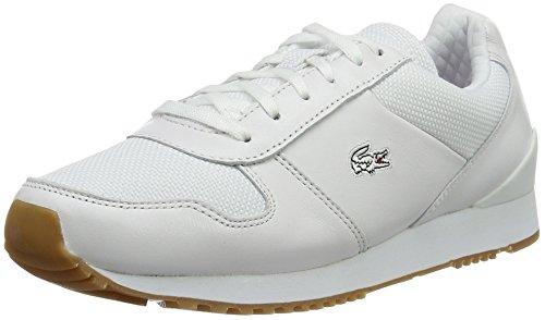 Lacoste L!ve, Trajet, Sneakers da Donna, Bianco (wht/wht), 39