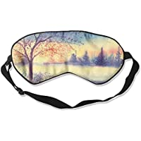 Landscape Watercolor Morning Tree Sleep Eyes Masks - Comfortable Sleeping Mask Eye Cover For Travelling Night... preisvergleich bei billige-tabletten.eu