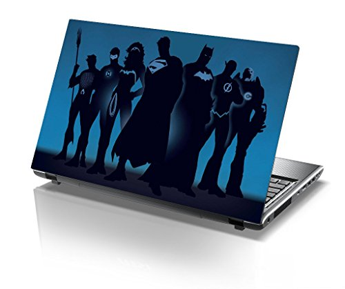 Imagination Era - Justice League , Super Heroes , Blue , Movie Skin For Laptop of 17.5 inch of Dell-lenovo-Acer-HP-Vaio-Asus-Toshiba  available at amazon for Rs.190
