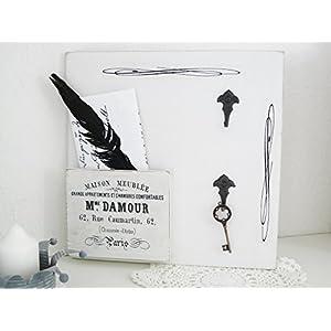 Unikat handmade Schlüsselbrett 'Damour 1' shabby Aufbewahrung Brieffach Utensilo