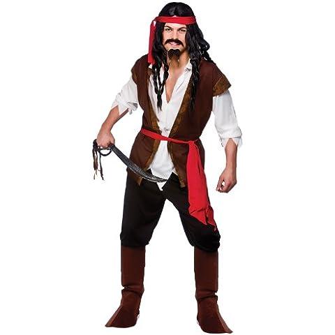 Caribbean Pirate - Adult Costume Men : MEDIUM
