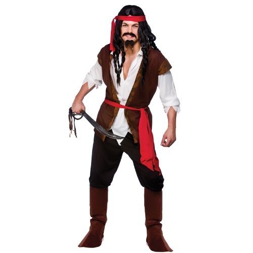 Caribbean Pirate Sea Ocean Parrot Boat Fancy Dress Costume (Piraten Kostüme Parrot)
