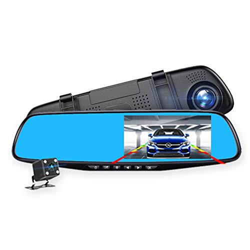 Little Fairy Fang Scout Touch Screen Automobile Data Recorder, HD Night Vision Automobile Data Recorder 4.3 Inch Rearview Mirror Front and Rear Dual Lens Reversing Image Car Driving Recorder - Dual Lens Hd Light