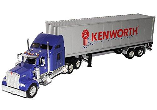 Kenworth-lkw-modelle (Kenworth W900 Container LKW Truck Violett 1/32 Welly Modell Auto)