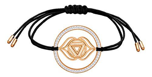 Nenalina Damen Armband mit Stirn – Ajna Chakra Anhänger in 925 Sterling Silber rosé-vergoldet mit Swarovski Steinen besetzt 863361-401