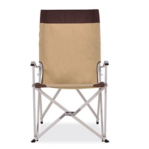 ZHEDIEYI Campingstühle Multifunktionales Portable mit Armlehnen Aluminium Klappstühle Doppelkreuz Oxford Angelplätze im Freien Liegestühle, Hellbraun