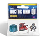 Doctor Who Gomme - Turquoise (Lot de 3)
