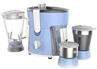 (Certified REFURBISHED) Philips Amaze HL7576/00 600-Watt Juicer Mixer Grinder with 3 Jars (Celestial Blue/Bright White)