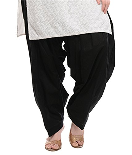 NGT Black Pure Cotton Patialas For Womens