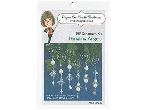 he Bead Orn Kit Dangling Engel, Dangling Engel macht 6 (Beaded Christmas Ornament-kits)
