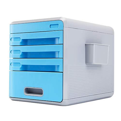 Cartelle portadocumenti cassetti di archiviazione desktop cassetti dell'archivio di file davvero utile con cassetti e serrature a combinazione, file di archiviazione, carta, penne e altre necessità pe