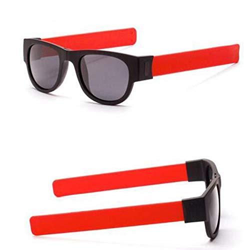 FeiBeauty Kreative Gläser,Armband Brille Sonnenbrille Schutzbrille Snap Armband Mode Radfahren Brille