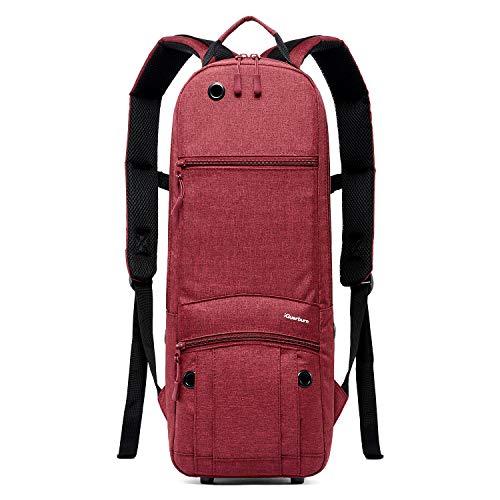 iGuerburn Rucksack für Größe D Tank (2.0L) Sauerstoffflasche O2 Sauerstoff Tank Tasche Träger für Zylinder (Rot)