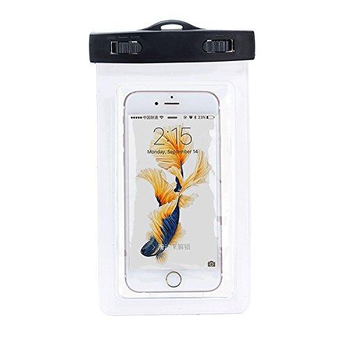 Naruba Media Wasserdichte - Waterproof Handyhülle / Smartphone–Hülle / Handytasche, Wasserfeste Tasche, Box, Case, Beutel, Fototasche, Snow-Beach-Bag, Schützhülle für Strand, Staubdicht, Schneedicht, Unterwasserhülle zum tauchen für iPhone 4/4s/5/5s/5c/6 plus/6s plus/SE, Samsung S6 / S6-7 edge / S5 / S4