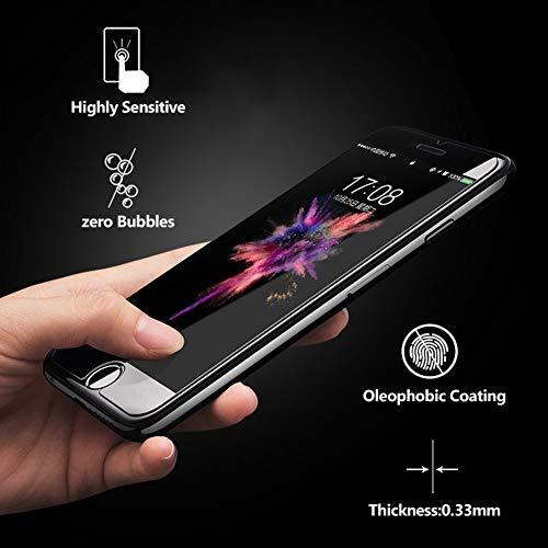 Flysee Protector Pantalla para iPhone 7 / iPhone 8,  [3- Unidades] Cristal Templado para iPhone 7 / iPhone 8,  Alta Definicion,  Sin Burbujas [9H Dureza] [Anti- Arañazos] -  Garantía de por Vida