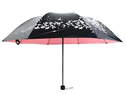 Trois Pliant Sun Parapluies Vinyl Sun Umbrella Cerisier Effacer Umbrella