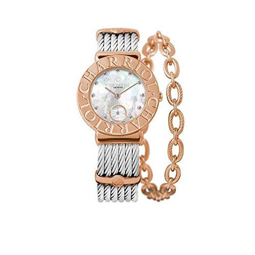 CHARRIOL Women's ST-Tropez 30MM Steel Bracelet Quartz Watch ST30CP1.560.023