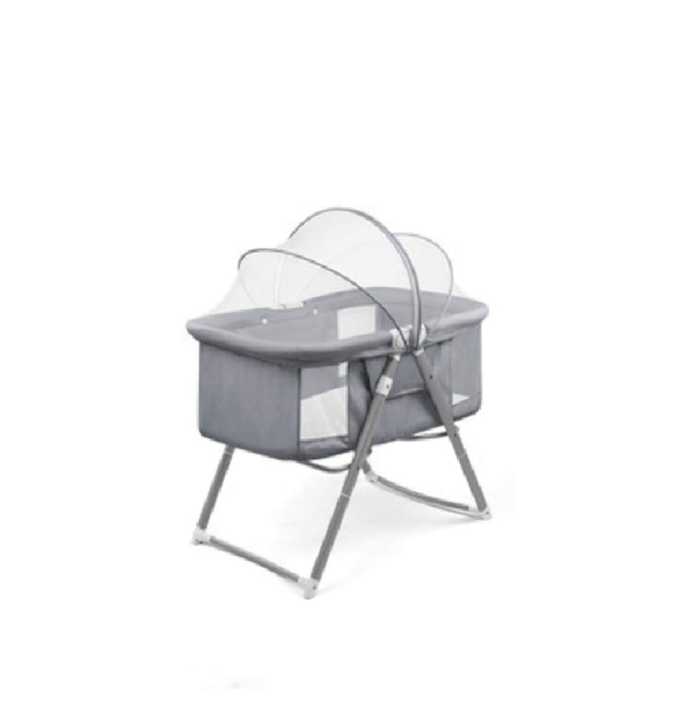 Baby cot - Multi-Functional, Lightweight Children's Bed Shaker, Baby Bed Foldable, Portable Travel Cradle Bed, Easy to fold, no Installation, Good Cleaning AYUANCHUN Lightweight design and rugged frame construction for maximum strength and stability. You can see your baby through a breathable, clear viewport, so you can rest as you wish. The portable cradle is the perfect solution for parents looking for a well-designed cradle, and it also provides excellent portability. The cradle can be easily folded and made of durable lightweight frame for easy transport. 1