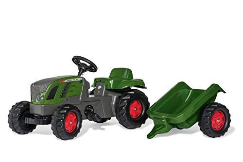 Rolly Toys rollyKid Fendt 516 Vario Trettraktor (mit Anhänger, Alter 2,5-5 Jahre, Heckkupplung, Drehschemellenkung) 013166